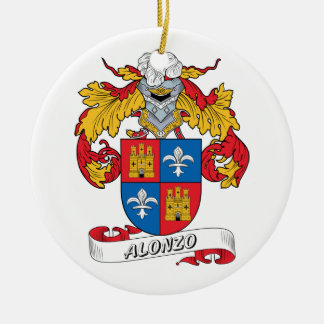 Alonso Family Crest Ceramic Ornament