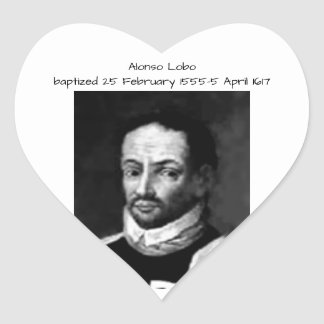 Alonso Lobo Heart Sticker
