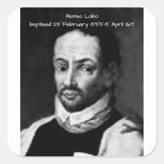 Alonso Lobo Square Sticker