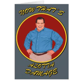 Alotta Damage get well soon card