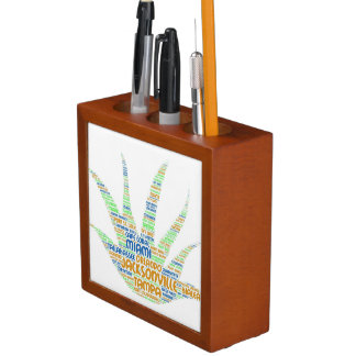 Alove Vera illustrated with cities of Florida USA Desk Organizer