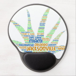 Alove Vera illustrated with cities of Florida USA Gel Mouse Pad