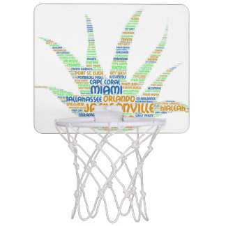 Alove Vera illustrated with cities of Florida USA Mini Basketball Hoop