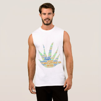 Alove Vera illustrated with cities of Florida USA Sleeveless Shirt