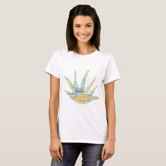 Alove Vera illustrated with cities of Florida USA T-Shirt