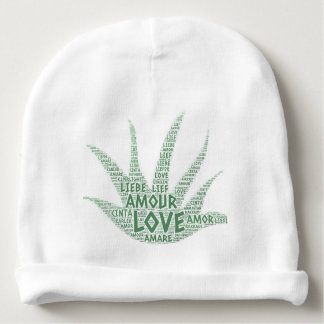 Alove Vera Plant illustrated with Love Word Baby Beanie