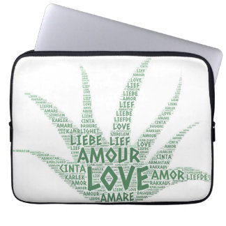 Alove Vera Plant illustrated with Love Word Laptop Sleeve