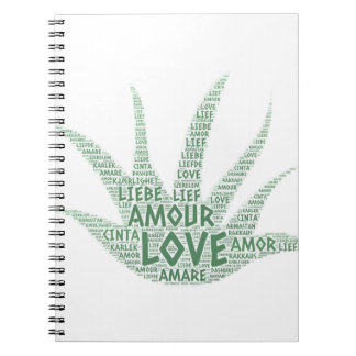 Alove Vera Plant illustrated with Love Word Notebook