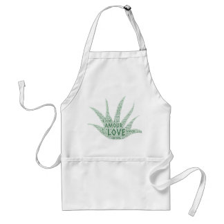 Alove Vera Plant illustrated with Love Word Standard Apron