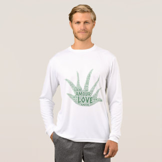 Alove Vera Plant illustrated with Love Word T-Shirt