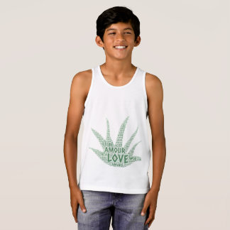 Alove Vera Plant illustrated with Love Word Tank Top