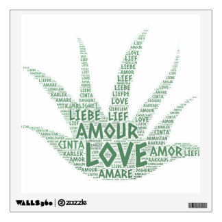 Alove Vera Plant illustrated with Love Word Wall Sticker