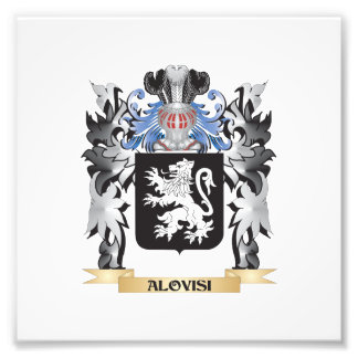 Alovisi Coat of Arms - Family Crest Photographic Print