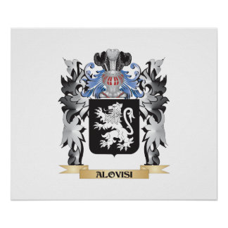 Alovisi Coat of Arms - Family Crest Poster