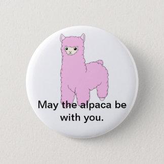 Alpaca 2 Inch Round Button