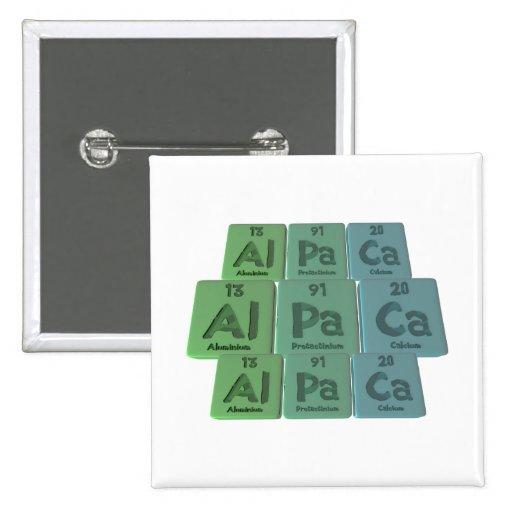 Alpaca-Al-Pa-Ca-Aluminium-Protactinium-Calcium Pins