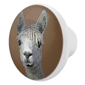 Alpaca Alpakka Alpaka Alpaga Ceramic Knob