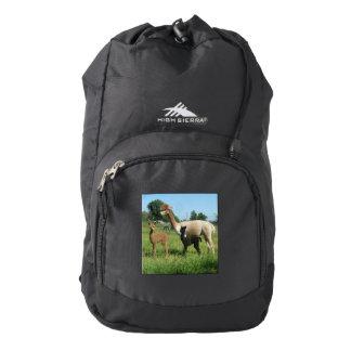 Alpaca And  Cria Backpack