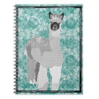 Alpaca Art Black White Notebook