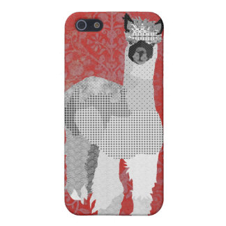 Alpaca Art Red iPhone Case Cover For iPhone 5/5S