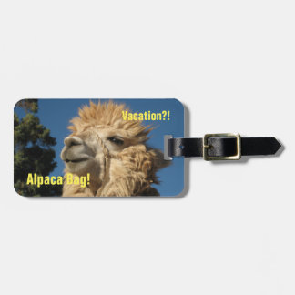 Alpaca Bag Luggage Tag