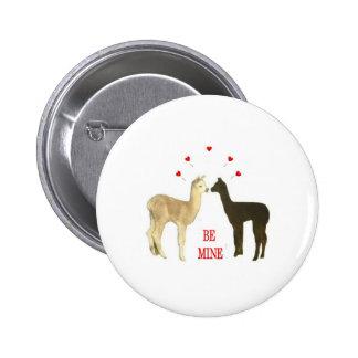 Alpaca be mine Valentine Button