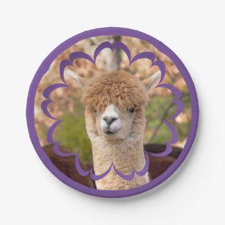 Alpaca Birthday 7 Inch Paper Plate
