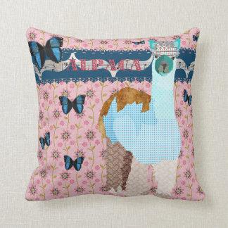 Alpaca Boho Butterflies Pink Floral  Mojo Pillow
