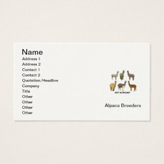 Alpaca Breeder's Business Card