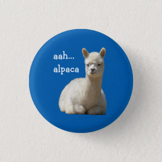 Alpaca Button aah alpaca
