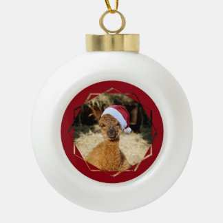 Alpaca Christmas Ball Ornament