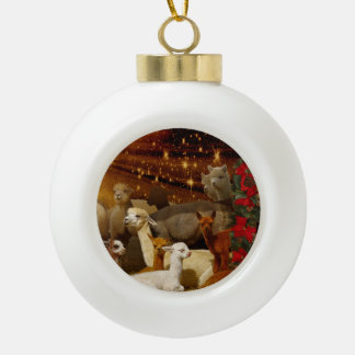 Alpaca Christmas Ball Ornaments
