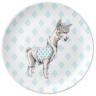 Alpaca Decorative Porcelain Plate