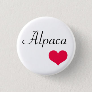 Alpaca heart 1 inch round button