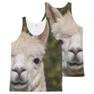 Alpaca Llama Photography All-Over-Print Tank Top