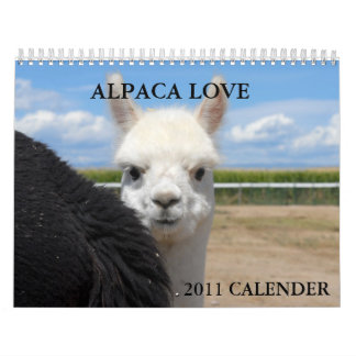 ALPACA LOVE 2011 CALENDER WALL CALENDAR