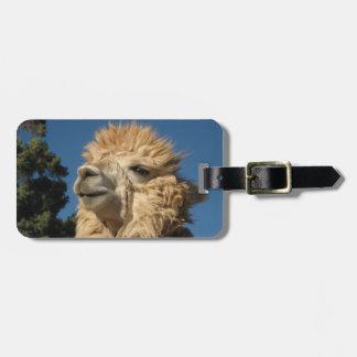 Alpaca Luggage Tag