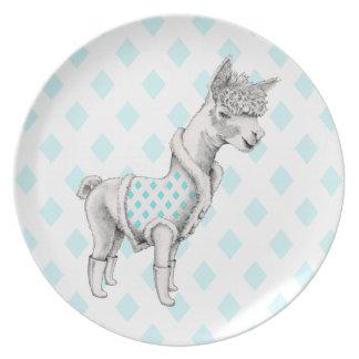 Alpaca Melamine Plate