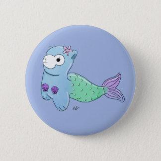 Alpaca mermaid badge 2 inch round button