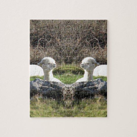 Alpaca mirror jigsaw puzzle