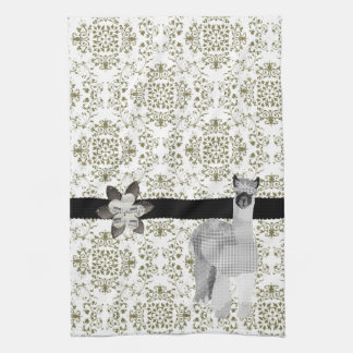 Alpaca Olive Damask  MoJo Kitchen To Kitchen Towel