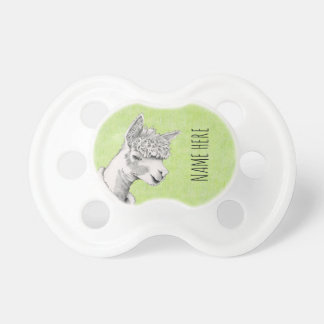 Alpaca on Green BooginHead® Pacifier