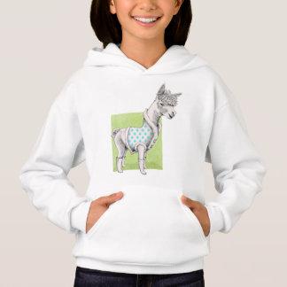 Alpaca on Green T-Shirt