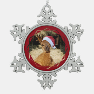 Alpaca Pewter Snowflake Ornament