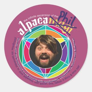 Alpaca Phil Stickers! Round Sticker