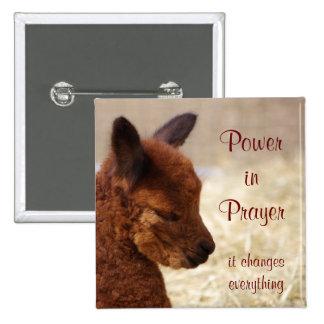 Alpaca Prayer Pin