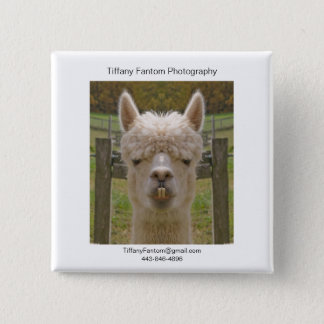 Alpaca Promo Piece 2 Inch Square Button