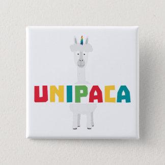 Alpaca Rainbow Unicorn Z0ghq 2 Inch Square Button