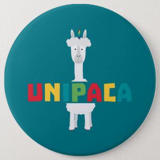 Alpaca Rainbow Unicorn Z0ghq 6 Inch Round Button