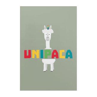 Alpaca Rainbow Unicorn Z0ghq Acrylic Wall Art